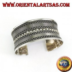 Silver slave bracelet, handmade Balinese creation