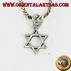 Silver pendant small star of David six-pointed star