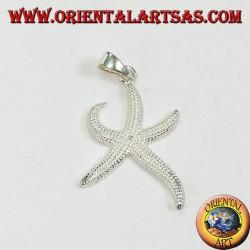 Silver starfish pendant (medium)