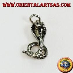 Ciondolo d'argento cobra piccolo