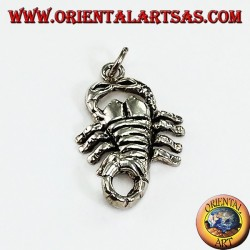 Pendant in silver scorpion medium