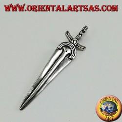Pendant in silver, sword the queen of swords by Cesare Borgia