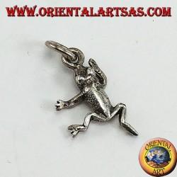 Silberner Anhänger in Form eines Frosches