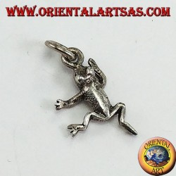Silver pendant in the shape of a frog