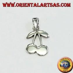 Ciondolo in argento coppia di ciliegie