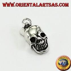 Silver pendant, clown skull