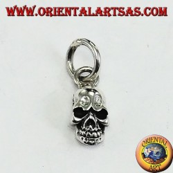 Pendant in silver, the skull of the hard