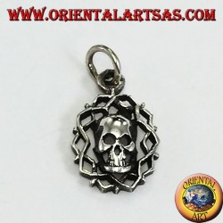 Pendant in silver, skull of darkness