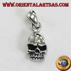 Твердый серебряный кулон в форме черепа