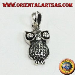 Pendant in silver owl with big eyes