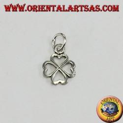 Silver four-leaf clover pendant