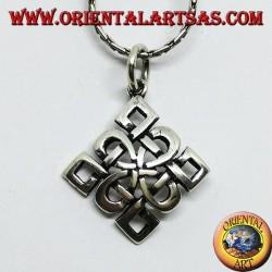 Silver pendant, Shieldknot knot