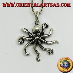 Silver pendant the octopus symbol of intelligence