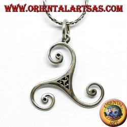 Silver pendant triskelion or triskele big