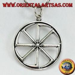 Ciondolo in argento ruota del sole Kolovrat ( grande )