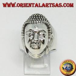 Anello in argento testa del grande Buddha