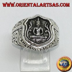 Silver ring of the dhyana Buddha