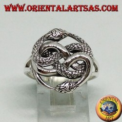 Silver ring with auryn talisman