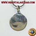 Tao yin-yang silver pendant