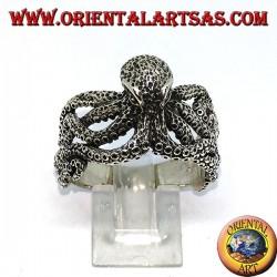 Серебряное кольцо осьминога