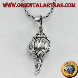 Ciondolo in argento, conchiglia la tofa il simbolo di fertilità
