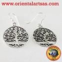 Orecchini albero della vita in argento