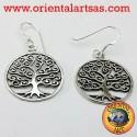 Orecchini in argento albero della vita