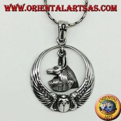 Silberanhänger, Anubis Leitfaden der Seelen