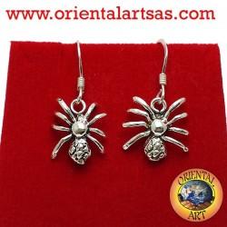 orecchino ragno in orgento