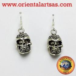 orecchini in argento Teschio