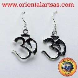 orecchini in argento Om (ॐ) sillaba sacra
