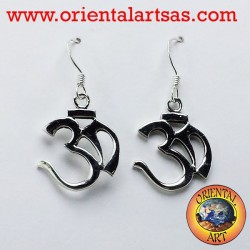 silver earrings Om (ॐ) sacred syllable