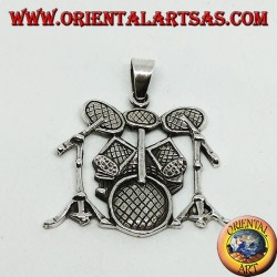 Silver pendant Battery (musical instrument)