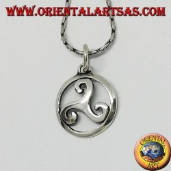 Silver pendant Triskele (triquetra) in the circle