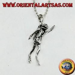 Diver's mobile silver pendant