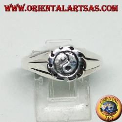 Tao yin-yang silver ring, The Taijitu