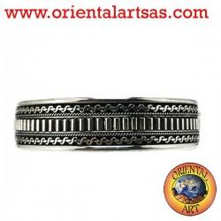 Silver bracelet, made ethnic hand