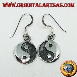 Silver Yin Yang pendant earring, The Taijitu (T'ai Chi T'u)