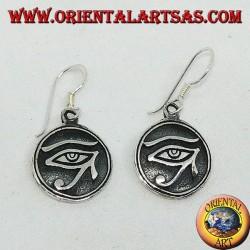 Boucle d'oreille en pendentif en argent de l'oeil de Ra Horus