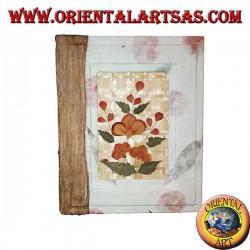 Photo album in rice paper with bas-relief of petals, 20 cm