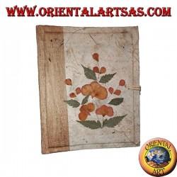 Photo album in rice paper with flower petals, 20 cm