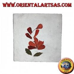 Notizbuch aus Reispapier und Blütenblättern, 10x10 cm
