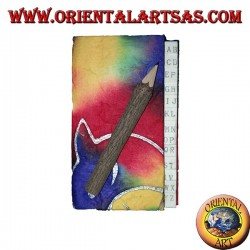 Rubrica telefonica in carta di riso colorata con matita nel tronco, 11 cm