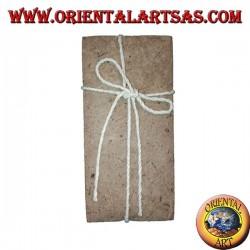 Enveloppes pour lettres avec des feuilles d'écorce d'arbre et du papier de riz, 10 pcs