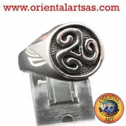 anello Triskell in argento