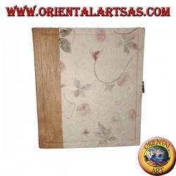 Album photo en papier de riz et pétales de fleurs avec fermeture, 27 cm