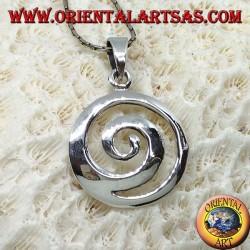 Silver pendant, Celtic spiral (large)