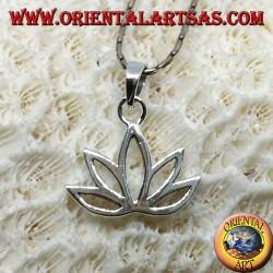 Pendentif en argent fleur de Lotus fleur sacrée pour l'hindouisme et le bouddhisme