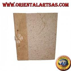 Taccuino quaderno in corteccia d'albero con rilegatura di spago, 28 cm