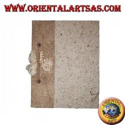 Taccuino quaderno in corteccia d'albero con rilegatura di spago, 21 cm
